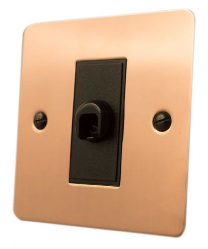 G&H FBC79B Flat Plate Bright Copper 1 Gang Flex Outlet Plate